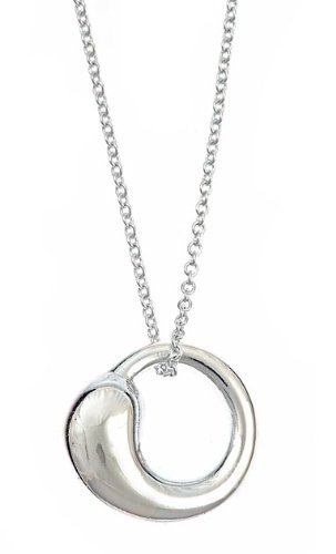 Sterling Silver Eternal Circle Pendant Necklace 16