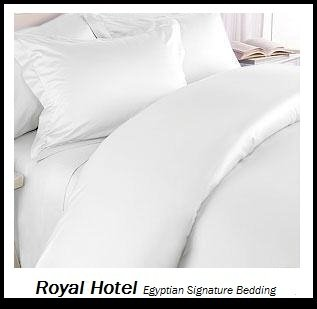 Royal Hotel's Solid White 1400-Thread-Count 4pc King Bed Sheet Set 100-Percent Egyptian Cotton, Sateen Solid, Deep Pocket