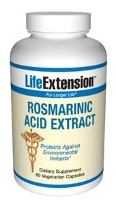Life Extension, ROSMARINIC ACID EXTRACT 60 V-CAPSULES