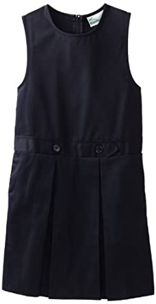 Classroom Girls 7-16 Kick Pleat Jumper Dress, Navy Blue, 16