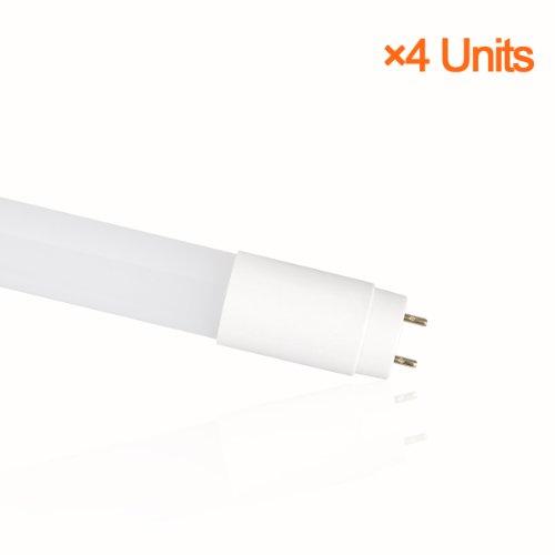 Lighting EVER 18 Watt 4 Foot LED Tube, 40 Watt Fluorescent Tube Equivalent, Daylight White, Pack of 4 Units image