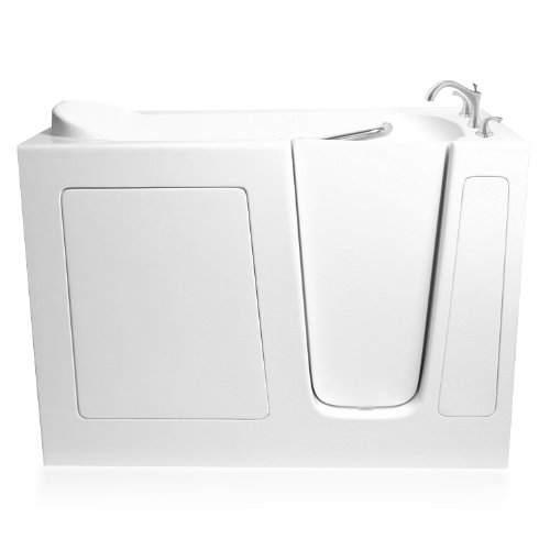 ARIEL Bath EZWT-3060- Soaker-R 60 inch x 30 inch White Walk In Bathtub Right Side Drain (Soaker Tub Drain Kits compare prices)