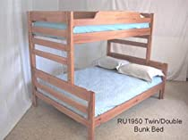 Hot Sale Medium Height TwinFull Bunk Bed-B23 Stain