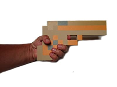 8 Bit Pixelated Gold Foam Gun Toy 10 from 8BIT TOYS