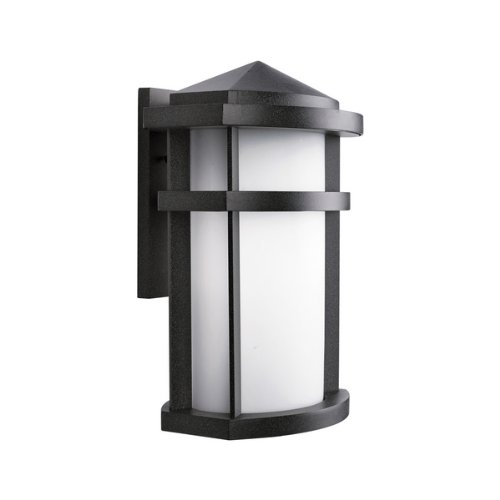 Kichler Lighting 9168GNT Lantana 1-Light Incandescent Outdoor Wall Mount Lantern, Granite with Etched Opal Glass