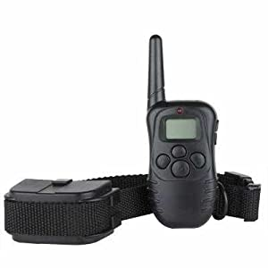 Hot Spot® Rechargeable Wireless LCD digital dog Training Shock and Bark collar with 100LV of Shock and Vibration, Remote Control