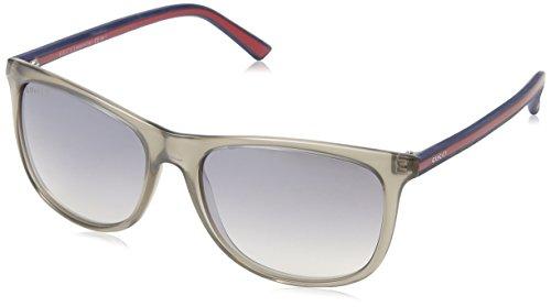 Gucci GG1055/S Sunglasses-00VS Gray (IC Gray Mirror Gradient Silver Lens)-55mm