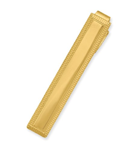 Gold-plated Lined Edge Tie Bar