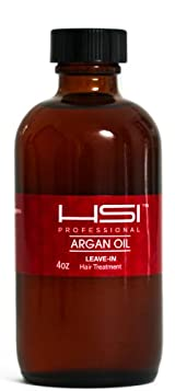 HSI PROFESSIONAL Argan Oil LEAVE IN CONDITIONER flat iron thermal protector leaves hair silky and shiny 2oz BOTTLE