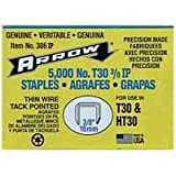 Arrow 306IP 3/8-Inch Staples for #HT-30 Hammer Tacker 5000 Pack