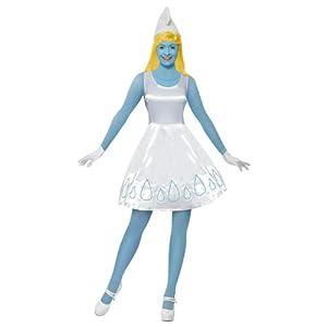 Original Lizenz Schlumpfinekostüm Schlumpfine Kostüm Schlumpf Schlumpfkostüm für Damen Damenkostüm blau Gr. 34 (XS), 36/38 (S), 40/42 (M), Größe:XS