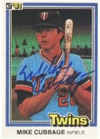 Mike Cubbage Minnesota Twins 1981 Donruss Autographed Hand Signed Trading Card. by Hall+of+Fame+Memorabilia