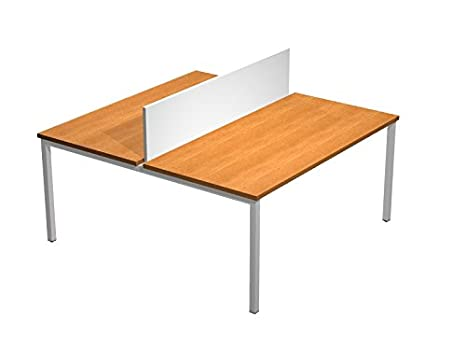 Workdesk with divisory panel, lenght available 138 cm - 158 cm - 178 cm