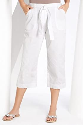 Pure Cotton Belted Cropped Cargo Trouser [T54-6010A-S]