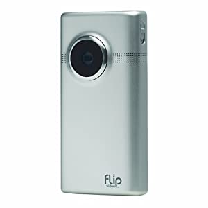 Flip MinoHD Video Camera – Brushed Metal, 8 GB, 2 Hours (2nd Generation)