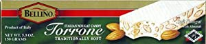 Bellino Torrone (Soft Nougat) with Almonds, 5.3 Ounce Box