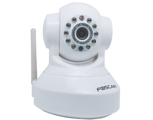 Foscam FI8918W Wireless/Wired Pan & Tilt IP/Network Camera with 8 Meter Night Vision and 3.6mm Lens (67 Viewing Angle)