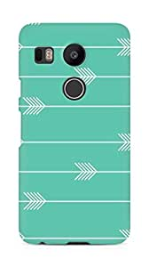 Amez designer printed 3d premium high quality back case cover for LG Nexus 5x (Arrow Pattern)