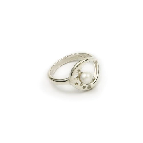 Ortak Jewellery Sterling Silver & Pearl Ring