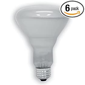  GE 20331-6-6 65 Watt Soft White Floodlight BR30 Light Bulb, 6-Pack