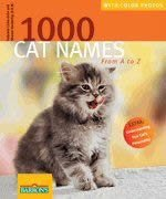 Barrons Books 1000 Cat Names from A to Z Book