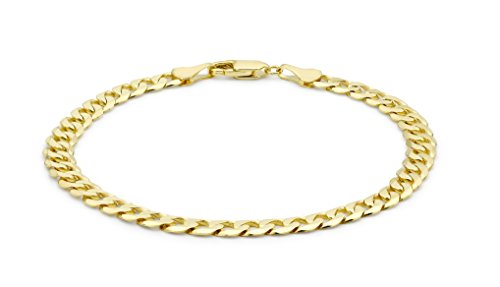 Carissima Gold 9 ct Yellow Unisex Gold Curb Bracelet of 20 cm/8-inch