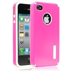 Cellairis Rapture Union Snap-On Hard Case for Apple iPhone 4 & 4S - Hot Pink/White