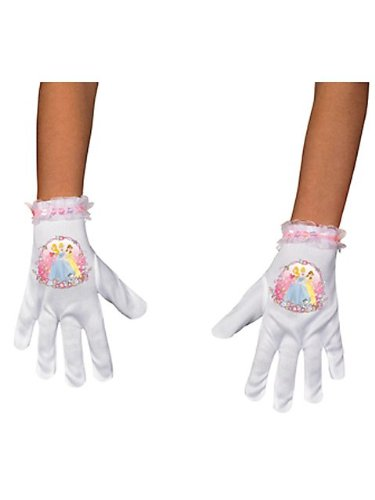 Disguise Disney Princess Short Gloves Costume Accessory, One Size/Child