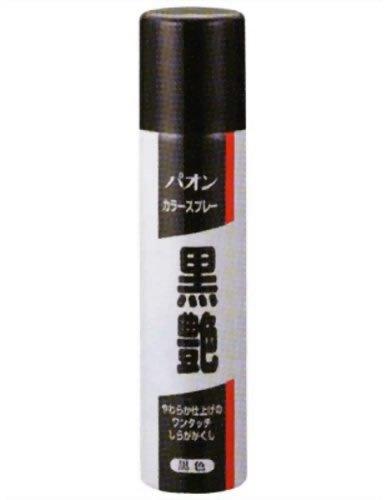 パオン カラースプレー黒艶 黒 85g