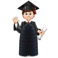 Boy Graduate Centerpiece Party Accessory (1 count) (1/Pkg) - 1