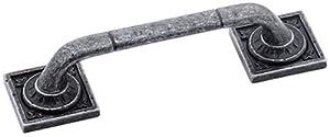 Amerock BP4482WID Ambrosia Euro Stone Square Pull, Wrought Iron Dark, 3-3/4-Inch