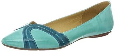Chocolat Blu Women's Goldie Flat,Aqua Leather,6 M US