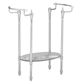 American Standard 8710.000.295 Standard Collection Console Table Metal Leg Set, Satin Nickel