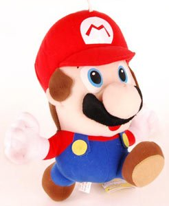 Picture of Popco Super Mario Brothers 10 Inch Mario Plush Figure (B0058EVK3Y) (Popco Action Figures)