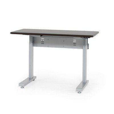 "Anthro Ergonomic Elevate Ii Advanced Electric Lift Computer Table Size: 48"" W X 29"" D, Laminate Color: Wenge"