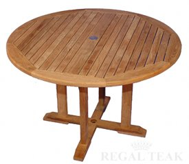 Teak Round Outdoor Patio Dining Wooden Table Patio Lawn Garden
