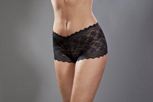 Womens/Ladies Underwear Lace Maxi Boxer Shorts With Elastane, Various Colours & Sizes