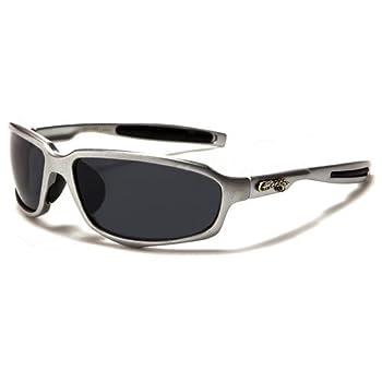 Choppers Masque et Lunettes de Soleil - Multisports - Vtt - Ski - Moto - Voile - Conduite - Moto / Mod. Custom Gris Noir / Taille Unique Adulte / Protection 100% UV400
