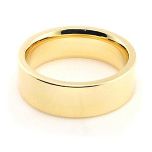 14K Yellow Gold Men's & Women's Wedding Bands 6mm flat comfort-fit, 7