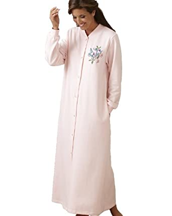 National Snap Front Fleece Robe - Long at Amazon Women's Clothing