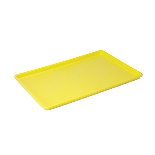 Winco FFT-1826YL Plastic Tray, 18-Inch by 26-Inch, Yellow (Yellow Tray compare prices)