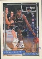 Dennis Scott Orlando Magic 1992 Topps Autographed Hand Signed Trading Card -... by Hall+of+Fame+Memorabilia
