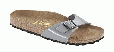 Birkenstock Sandals ''Madrid'' from Birko-Flor in Steelgrey 43.0 EU R