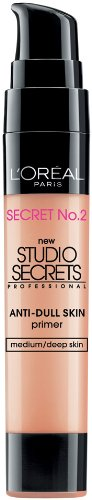 LOreal Paris Studio Secrets Professional Color Correcting Anti-Dull Skin Primer, 0.68-Fluid Ounce