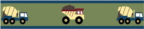 Construction Zone Baby and Childrens Trucks Wall Border by Sweet Jojo Designs (Truck Border compare prices)