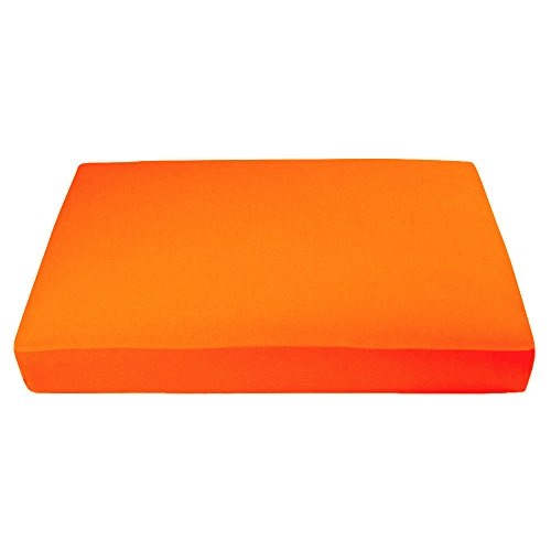 "My Blankee Organic Cotton Jersey Knit Crib Sheet -Orange 28""x52""x9"" drop"