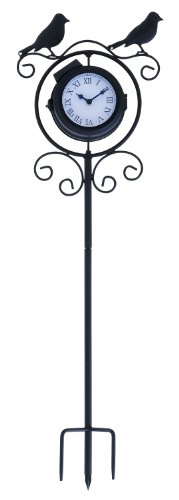 UMA Enterprises 35424 Metal Outdoor Clock Thermometer, 9 by 30-Inch