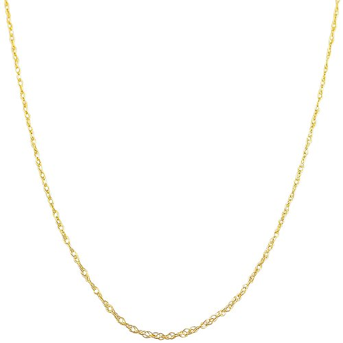 14 Karat Yellow Gold 0.7-mm Loose Rope Chain (18 Inch)