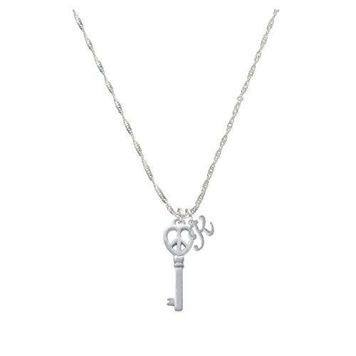 Open Peace Heart Key Mini Gelato Initial - K - Grace Necklace