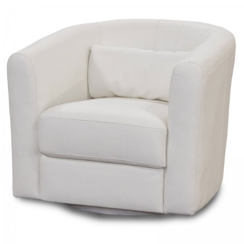 Diamond Sofa - Angelica Low Profile Swivel Chair in White